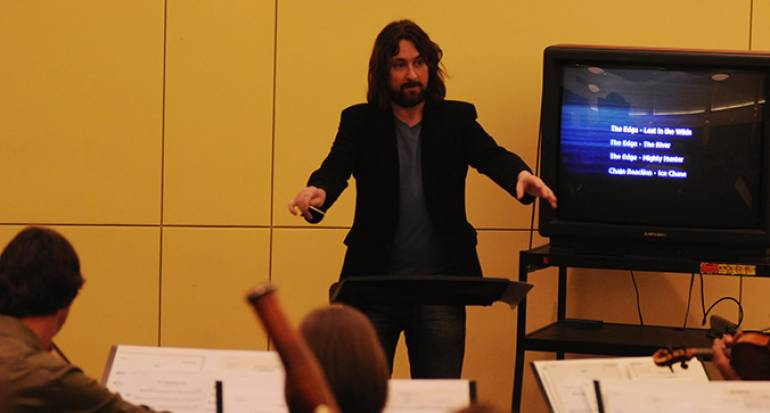 Alexander Rudd participates in BMI's 2011 Conducting for the Film Composer Workshop.