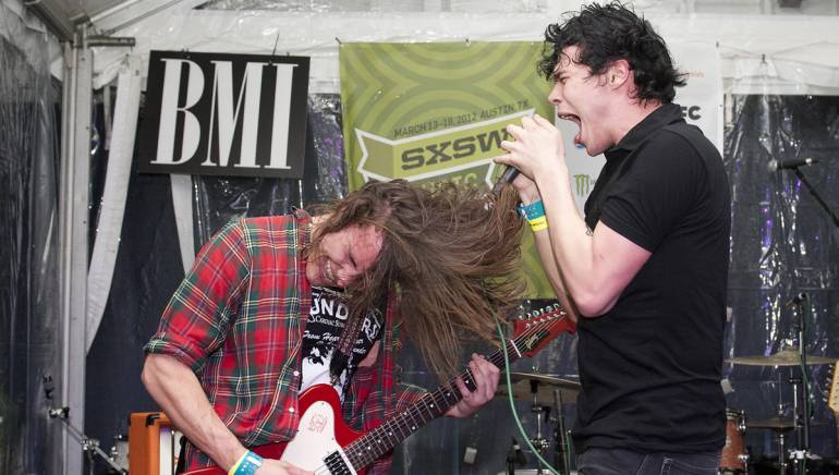 Pictured: New York Rivals perform  at BMI's Easy Tiger showcase during SXSW 2012.
