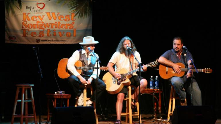 Robert Earl Keen, Jamey Johnson, and Raul Malo close-out the first evening of performances at the 2010 Key West Songwriters Festival