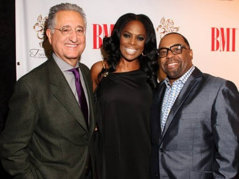 BMI President & CEO Del Bryant, BMI Vice President, Writer-Publisher Relations Catherine Brewton and 2013 BMI Trailblazers honoree Kurt Carr pause for a photo during the 14th Annual BMI Trailblazers of Gospel Awards Luncheon, held Friday, January 18 in Nashville.