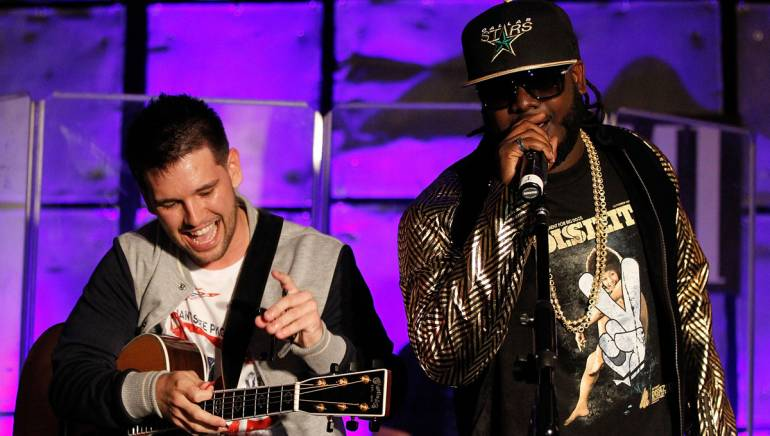 Pictured: Shay Mooney and T-Pain perform at BMI Presents: Live From Loews, held April 26 in Atlanta.