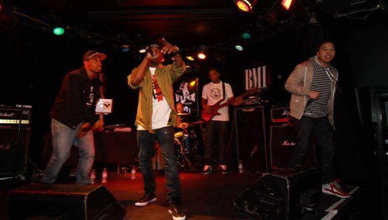 Pictured: JON MCXRO hits the stage at BMI's Next Fresh Thing on March 29, 2012.
