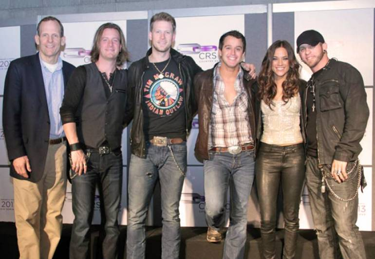 Pictured after the show (left to right): BMI's Dan Spears, Florida Georgia Line's Tyler Hubbard, FGL's Brian Kelley, Easton Corbin, Jana Kramer and Brantley Gilbert