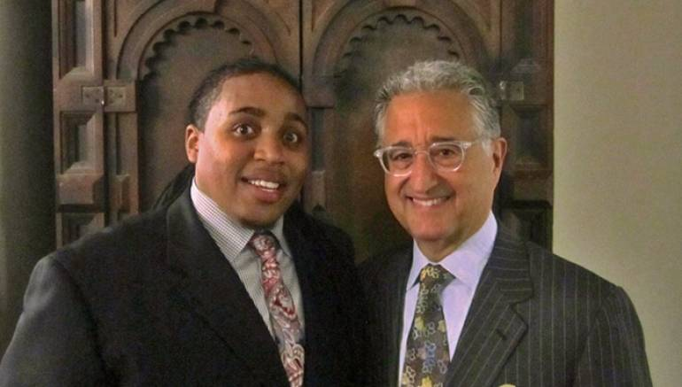 Jamison Ross, seen here backstage with BMI President & CEO Del Bryant.
