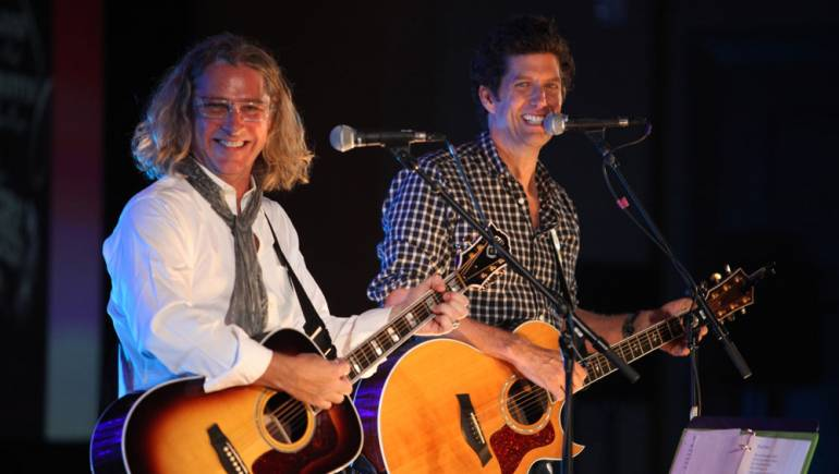 Ed Roland and Kevin Griffin perform in Amelia Island, Florida.