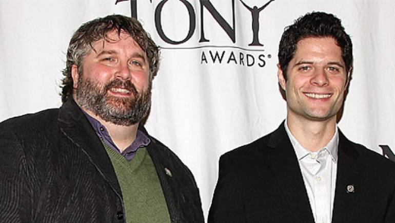 Pictured above are (l-r) Brian Yorkey and Tom Kitt.