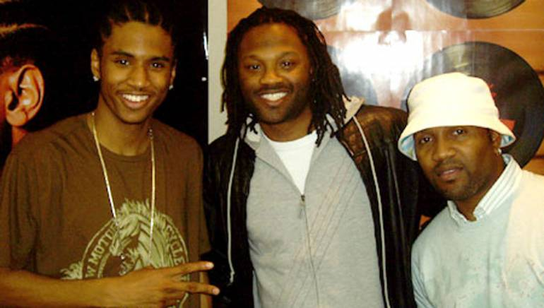 Pictured after an Atlantic Records showcase are artist/songwriter Trey Songz, BMI's Wardell Malloy and producer Troy Taylor
