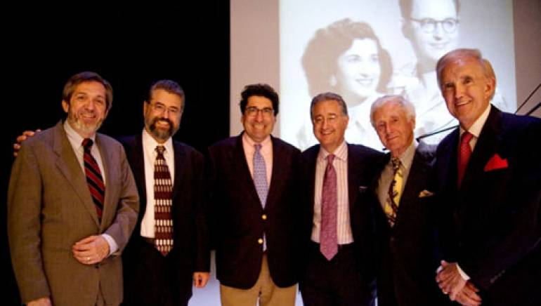 Pictured at the ceremony are (l to  r): Mark Wait, Dean of the Blair School of Music, Vanderbilt; Dane Bryant; Nick Zeppos, Interim Chancellor of  Vanderbilt University;  Del Bryant; John Siegenthaler, Sr. and Ralph Emery.
