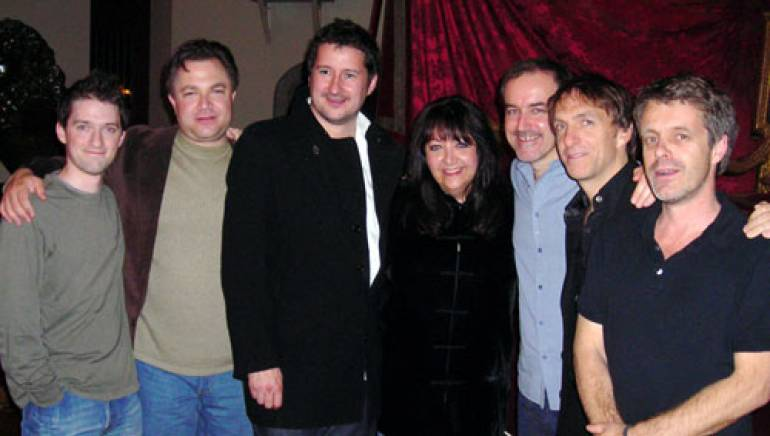 Pictured (l-r) are composer Stephen Barton (Call of Duty 4: Modern Warfare (VG), Lullaby, Matters of Life and Death, Mrs Palfrey at the Claremont); composer agent Rob Messinger, Clint Mansell (The Fountain, Requiem for a Dream, Sahara, Pi) BMI's Doreen Ringer Ross, David Arnold (Die Another Day, Casino Royale, The World Is Not Enough, Stargate, 2 Fast 2 Furious) and Mychael Danna and Harry Gregson Williams.