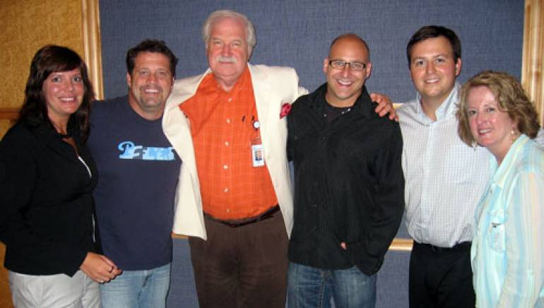 Pictured (l-r) are: BMI's Lynn Oliver, Drew Copeland, Cox VP of Sales Bill Spell, Ken Block, BMI's Mason Hunter and Cox TV's Pat Abel.