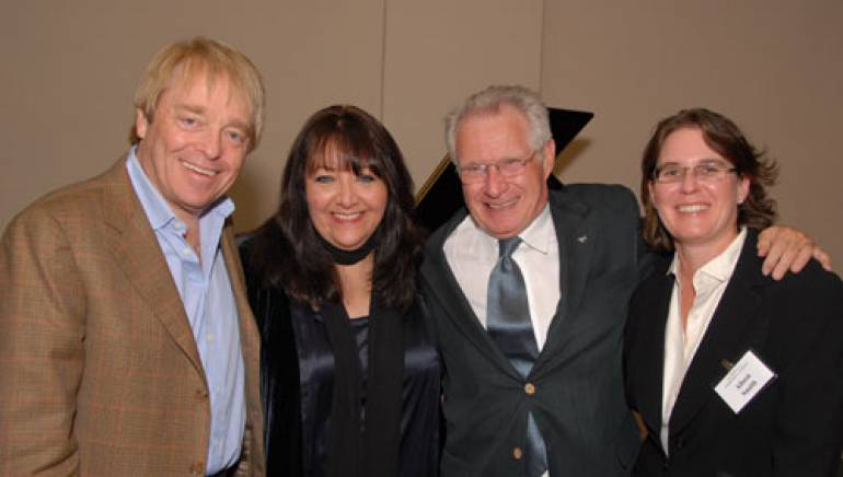 Shown at the event are (l-r):  SCL's Ray Colcord, BMI's Doreen Ringer Ross, Dave Grusin, and BMI's Alison Smith.