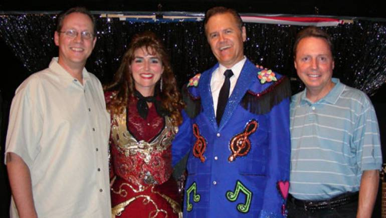 Pictured at the show are (l to r): BMI's Shelby Kennedy, Jenny Littleton as Debbie, Bruce Arnston as Doyle and BMI's Jody Williams.