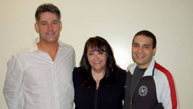 Pictured (l-r):  Graeme Revell, BMI's Doreen Ringer-Ross and the UCLA Extension program's Dave Dominique