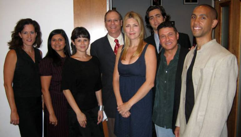 Pictured are (l-r): the Recording Academy's Elizabeth Healy; SoundExchange's Neeta Ragoowansi; BMI's June Neira, Charlie Feldman, Samantha Cox and Ben Tischker (BMI); the Songwriters Hall of Fame's Peter Bliss; and Volunteer Lawyers for the Arts' Alexei Auld.