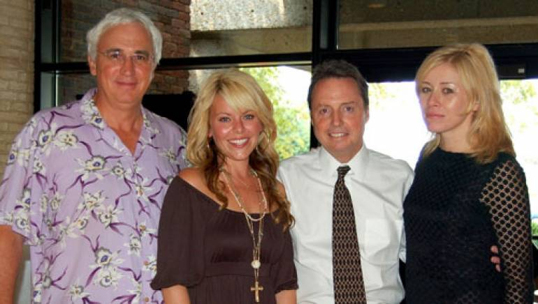 Pictured are (l to r): attorney Craig Hayes, Jesse Sheely, BMI's Jody Williams and Sheely's manager Bridgette Wright.