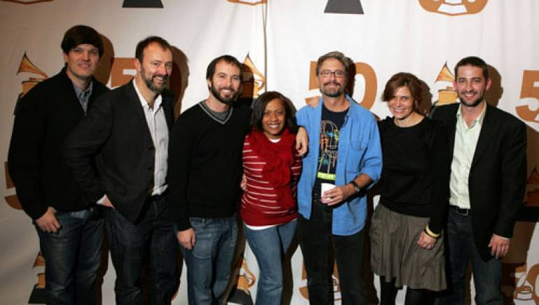 Pictured (l-r): PNW Chapter Executive Director Ben London, Muzak's Dean Carlson, ASCAP's Tom DeSavia, Purple Ribbon Records and Trustee of the Atlanta Chapter Dee Dee Murray, XBOX's  Peter S. Davenport , BMI's  Tracie Verlinde,  and Pump Audio's  Joe Schneider.