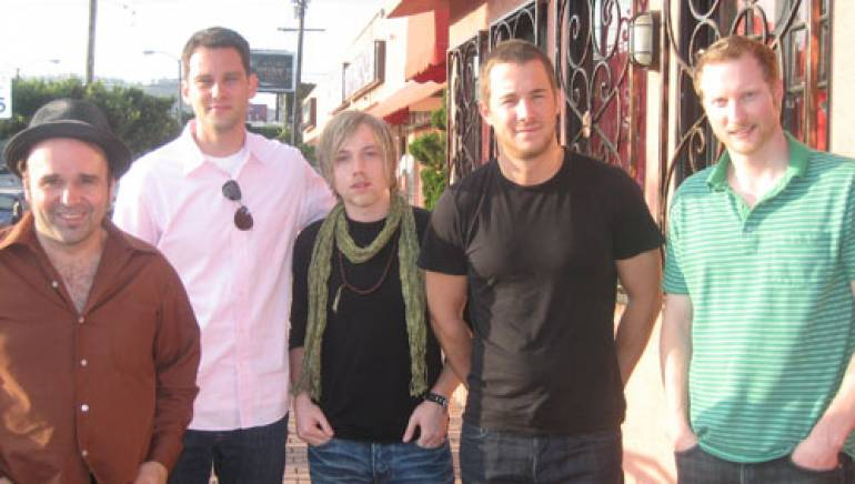 Shown are (l to r): James Combs, BMI's Casey Robison, Beau Black, Tim Bader and JD Feighner.