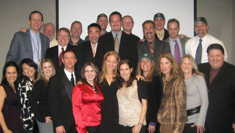 After her performance, the entire NNB group posed for a photo with Alissa (front, center). Also pictured are Alissa's manager Felice Keller (to Alissa's right), BMI's Dan Spears (top left) and author/coach/motivational speaker Bill Resler (to the right of Spears).