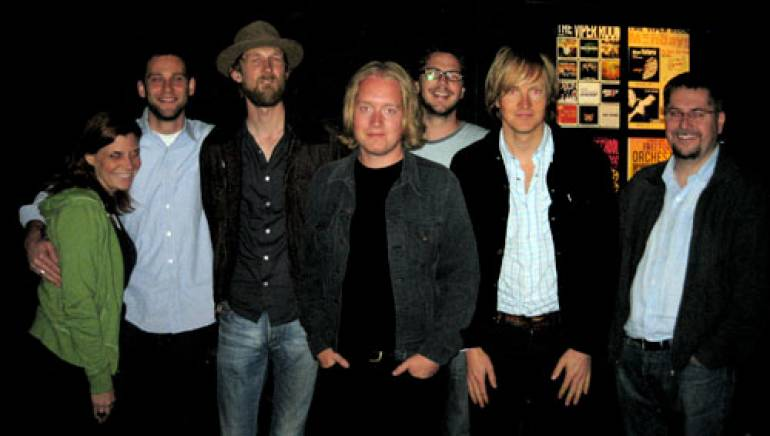 Shown at the show are (l-r): BMI's Tracie Verlinde and Casey Robison, Big Bang's Olaf Olsen (drums) and Øyvind Storli Hoel (bass), BMI's Joe Maggini, Big Bang's Øystein Greni (vocals, guitar) and BMI's Nick Robinson.