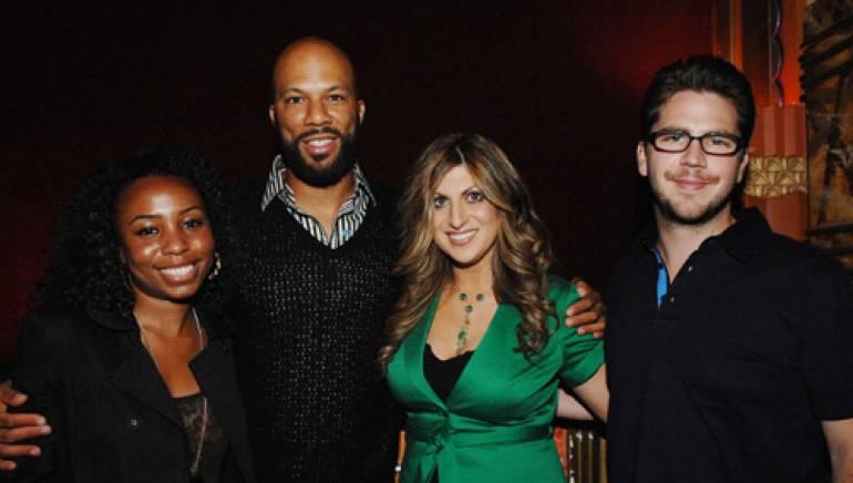 Pictured are (l to r): BMI's Nicole Plantin and Common, with BMI's Anne Cecere and Joe Maggini.