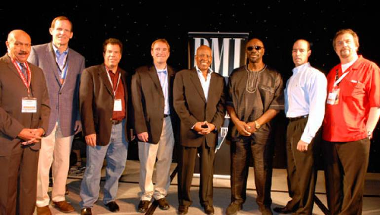 Pictured at the conference are (l-r): Conclave Board member Jerry Boulding, BMI's Dan Spears, Conclave Board member Tony Garcia, Conclave Board Chairman Tim Kelly, David Porter, Isaac Hayes, BMI's Mark Barron, and Conclave Executive Director Tom Kay.