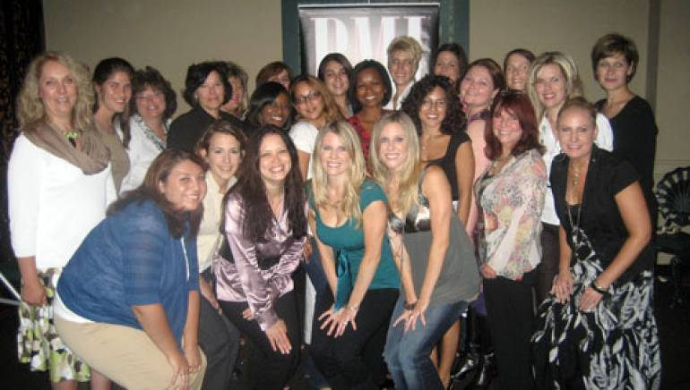 "BMI's Darlene Rosado (front row, third from left) and the Coppoloa's (front row, fourth and fifth from left) pose with the 'Rising Through the Ranks"" class of 2008."
