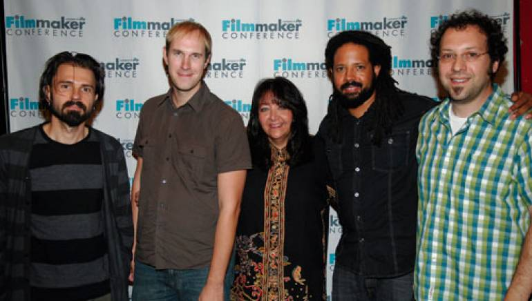 Composer Nathan Larson, director Craig Zobel, BMI's Doreen Ringer Ross, music supervisor Barry Cole, and Bank Robber Music founder Lyle Hysen