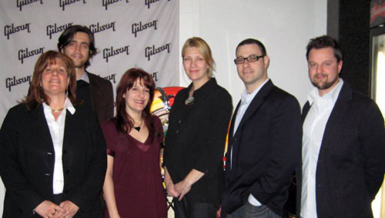 Pictured after the event are (l-r):  Susan Maguire, BMI's Ben Tischker, Ariel Hyatt, BMI's Samantha Cox, Bill Werde, and Chris Elles.