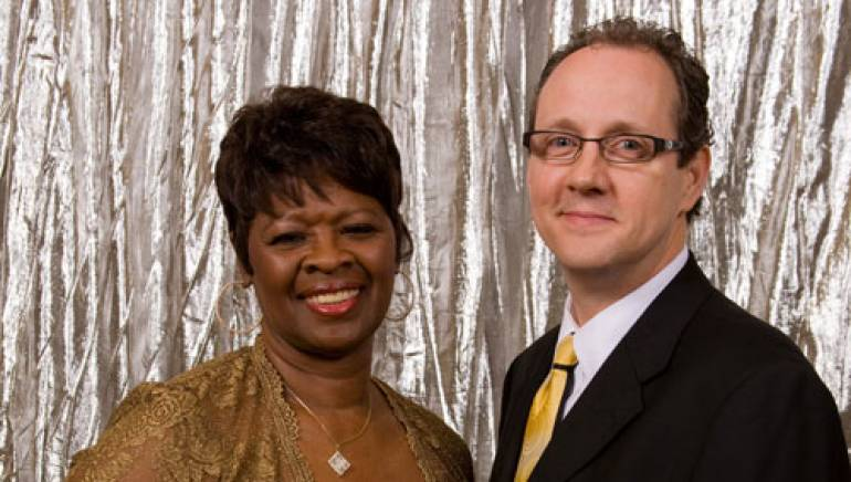 Pictured at the ceremony are (l to r): Irma Thomas and BMI's Shelby Kennedy.