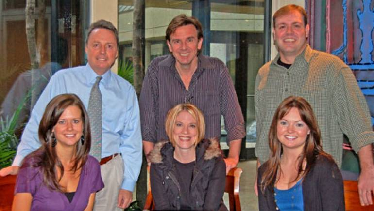 Pictured are (l to r): BMI's Jody Williams, Dann Huff and Crosstown Songs Nashville's Darrell Franklin, with BMI's Beth Mason, Melissa Peirce and Crosstown Songs Nashville's Megan Galbraith, seated.