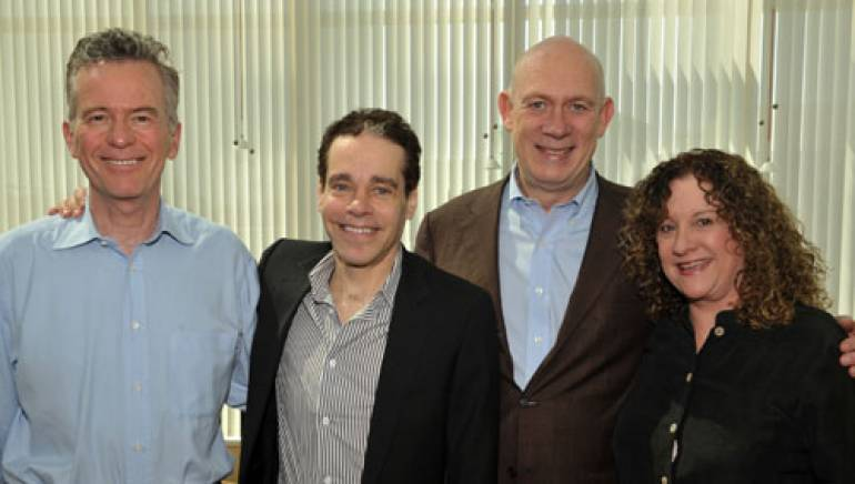 Warner Chappell Executive VP and head of Creative Glen Brunman, Sater, Warner Chappell CEO Dave Johnson, and BMI Senior Director Film/TV Relations Linda Livingston.