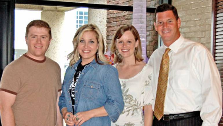 Pictured are (l-r): Sea Gayle Music's Keithan Melton, Sunny Sweeney, Bug Music's Sara Johnson and BMI's Mark Mason.