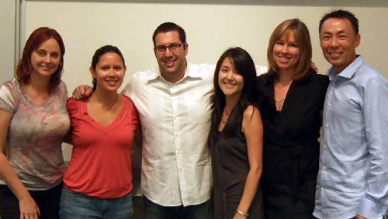 Shown (l-r): Primary Wave's Michelle Belcher; Nettwerk's Maria Alonte; composer Christopher Lennertz; Paramount's Dr. Jeanie Han; and BMI's Hanna Pantle and Ray Yee.