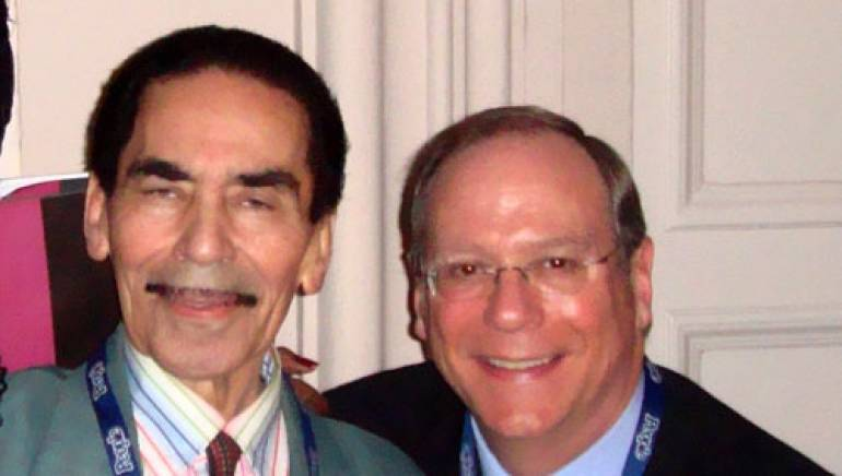 Mitchell is pictured at the reception with BMI's Charlie Feldman.