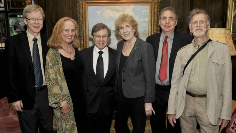 Pictured at the 2009 Encompass New Opera Theatre Jazz Gala are Pat Cook, Artistic Director of the BMI Lehman Engel Musical Theatre Workshop; Nancy Rhodes, Artistic Director of the Encompass New Opera Theatre; Maury Yeston, BMI's Jean Banks; Frank Evans, Workshop Special Events Coordinator; and Morton Banks.