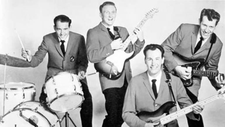 The Ventures' Howie Johnson, Don Wilson, Nokie Edwards and Bob Bogle.