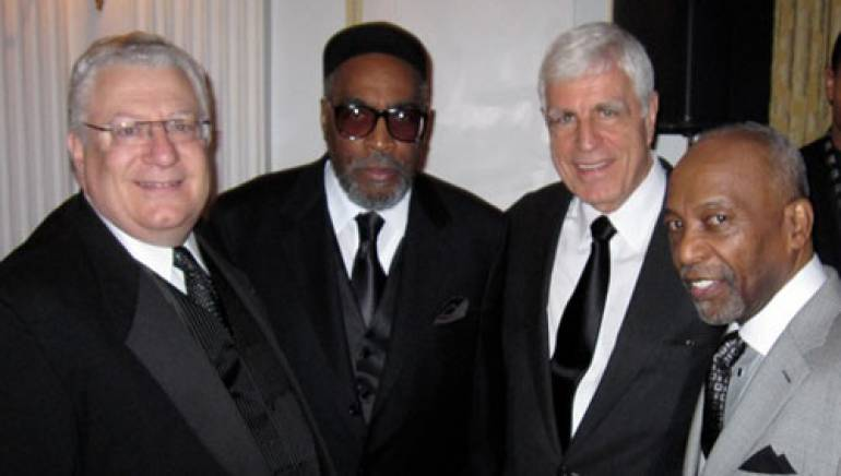 BMI's Fred Cannon, Kenneth Gamble; BMI's Robbin Ahrold, and Leon Huff enjoy the 2010 NABOB Awards Dinner. Gamble & Huff received the prestigious Pioneer in Music Award.
