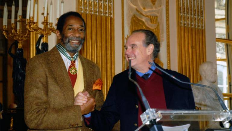 Ron Carter and Frédéric Mitterrand, French Minister of Culture and Communication.