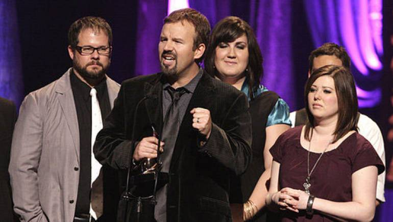 Casting Crowns win Artist of the Year at the 41st annual Dove Awards in Nashville.