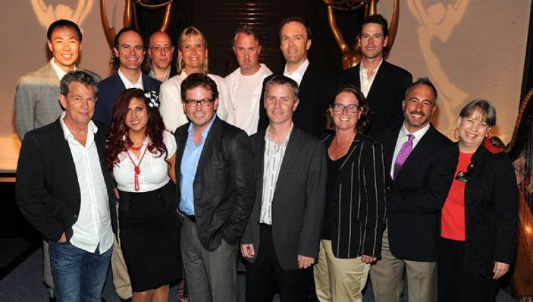 The Society of Composers & Lyricists (SCL) hosted its annual primetime Emmys reception honoring the 2010 nominees on August 19, and nominated BMI composers made up a large contingent of attendees. Pictured at the event are (front row) nominee David Foster; BMI's Anne Cecere; nominees Dave Pierce (SOCAN) and Blake Neely; BMI's Alison Smith and Michael Crepezzi; SCL Executive Director Laura Dunn; (back row): BMI's Ray Yee; with nominees Kristopher Cater, Lawrence Shragge (SOCAN), Lolita Ritmanis, Alex Wurman, Michael McCuistion, and Edward Rogers.