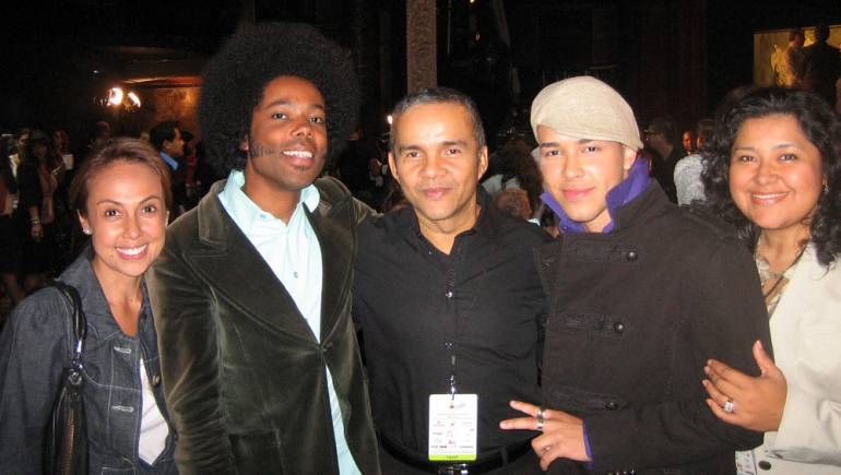 BMI's Delia Orjuela, Alex Cuba, Donato Poveda, Prince Royce and BMI's Marissa Lopez celebrate a round of 2010 Latin Grammy nominations.