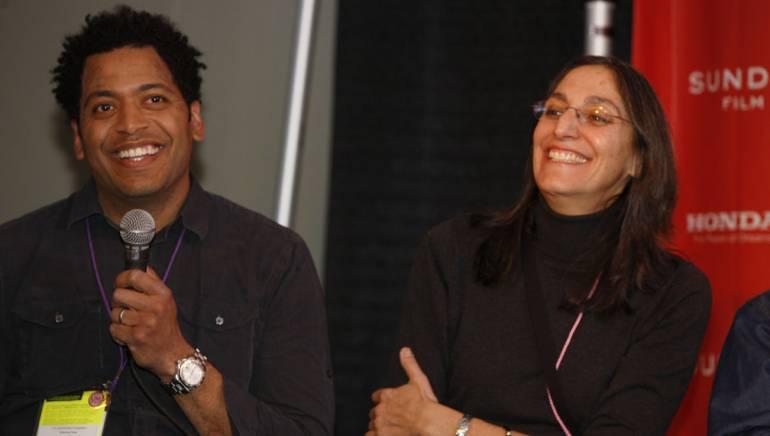 <em>Family Affair</em> director <a id='f5412' class='f5412' href='/affiliate/C5412'>Chico Colvard</a> and composer <a id='f5405' class='f5405' href='/affiliate/C5405'>Miriam Cutler</a> share a story during the BMI Sundance Composer/Director Roundtable.