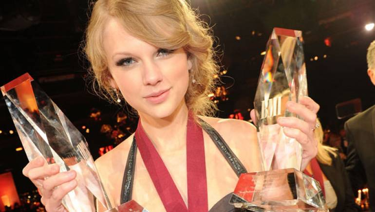 Taylor Swift wins Song and Songwriter of the Year at the 2010 BMI Country Music Awards in Nashville.