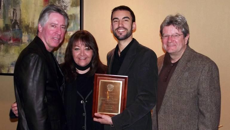 Pictured at the 2011 presentation of the BMI Berklee Film Scoring Scholarship are composer Alan Silvestri; Doreen Ringer Ross, BMI VP Film/TV Relations; winner Pablo Gomez Trujillo; and Berklee Film Scoring Chair Dan Carlin.