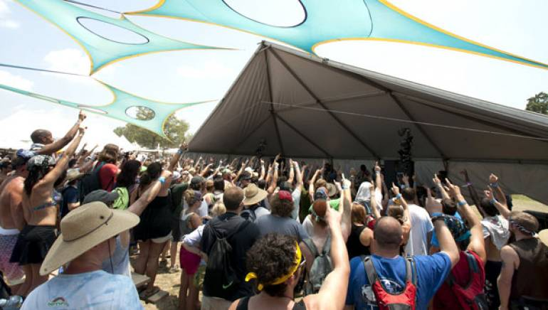 Pictured above: Chancellor Warhol gets the crowd going during his set on Friday, June 10 at Bonnaroo