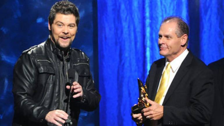 """Pictured above: Jason Crabb and Gerald Crabb celebrate their Song of the Year win for """"I Cry"""" at the 2011 GMA Dove Awards."""
