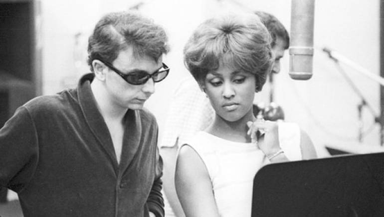 Pictured are: Phil Spector and Darlene Love in 1963.