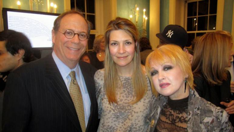 Pictured enjoying the recent BMI-sponsored Grammy nominees reception at Gracie Mansion are BMI's Charlie Feldman, BMI songwriter/artist Cyndi Lauper, and BMI's Samantha Cox.