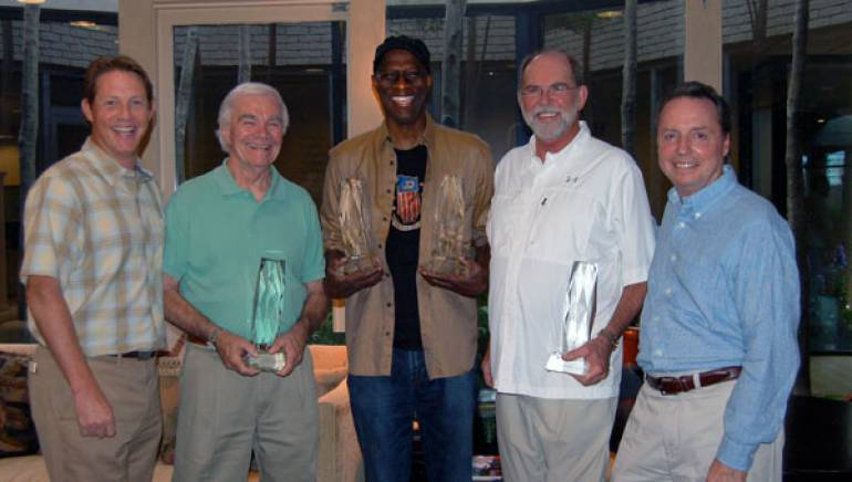 Pictured are BMI's Clay Bradley, songwriter Dickey Lee, Keb Mo, songwriter Allen Reynolds, and BMI's Jody Williams.