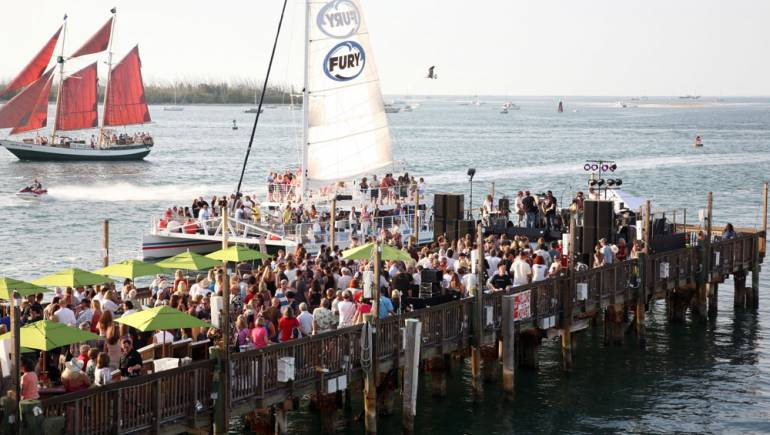 Festival attendees fill the Sunset Pier at Ocean Key Resort for last year's Key West Songwriters Festival Kick-Off Concert featuring the Randy Houser Band.
